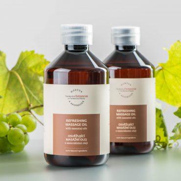 Botanicue - Osvěžující masážní olej s esenciálními oleji_LF