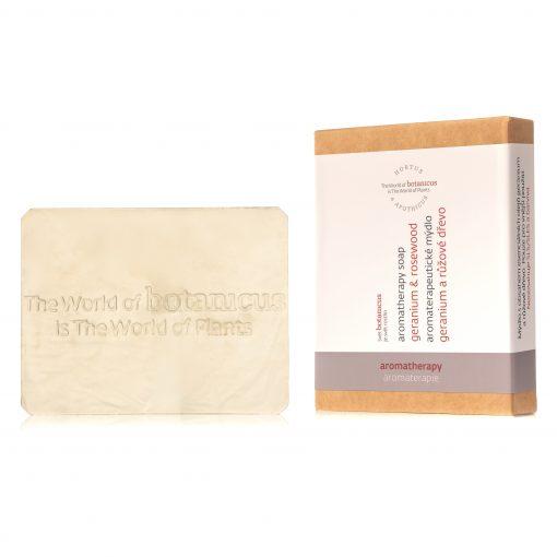 Botanicus - Aromaterapeutické mýdlo geranium a růžové dřevo