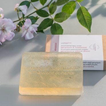 Botanicus - Aromaterapeutické mýdlo geranium a růžové dřevo_ LF
