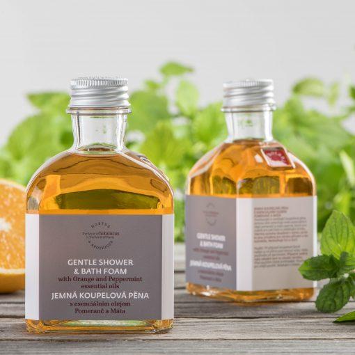 Botanicus - Jemná koupelová pěna s esenciálním olejem pomeranč a máta__LF_195ML