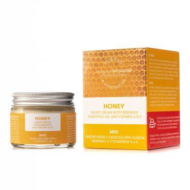 Botanicus Medový noční krém s esenciálním olejem beeswax a vitamínem A & E