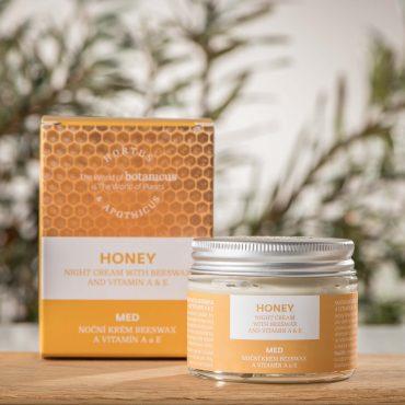 Botanicus Noční krém s esenciálním olejem Beeswax a vitamínem A & E_LF