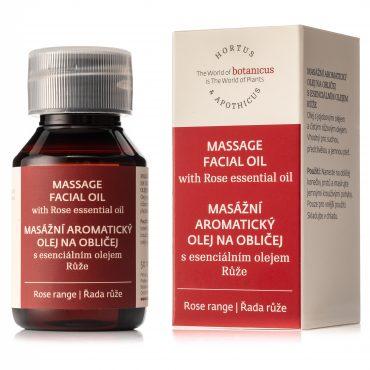 Botanicus masážní aromatický olej na obličej s esenciálním olejem Růže