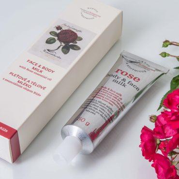 Botanicus pleťové a tělové mléko s esenciálním olejem Růže_LF