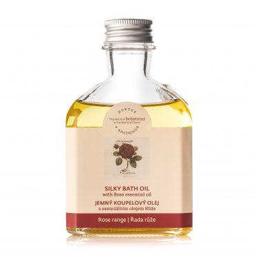 Jemný koupelový olej s esenciálním olejem růže