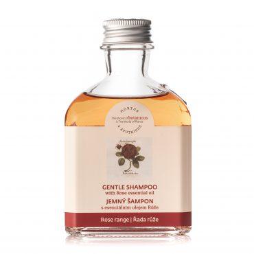 Jemný šampon s esenciálním olejem růže