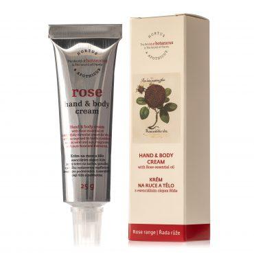 Botanicus krém na ruce a tělo s esenciálním olejem Růže_25g